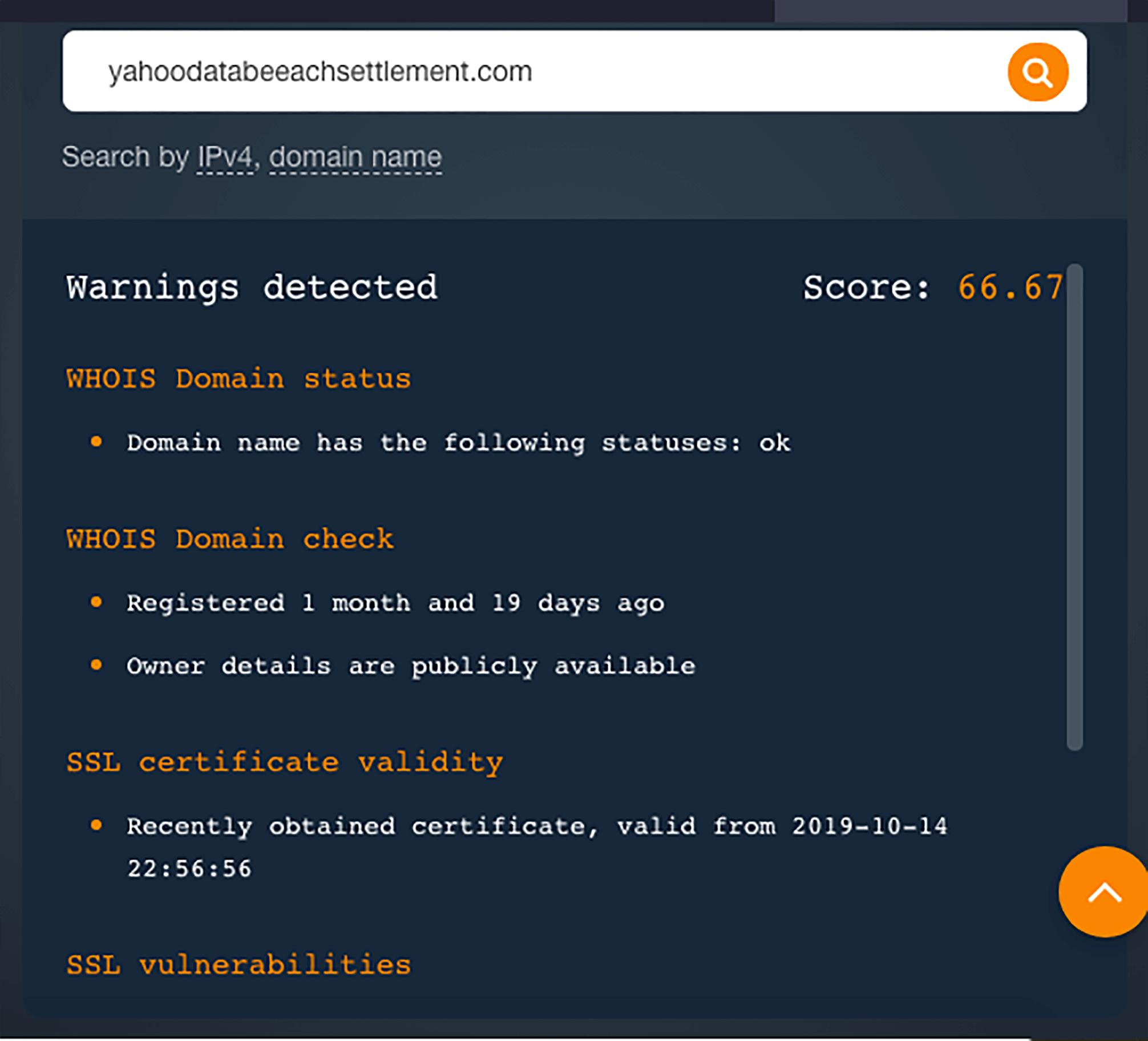 Product #3: Domain Reputation API