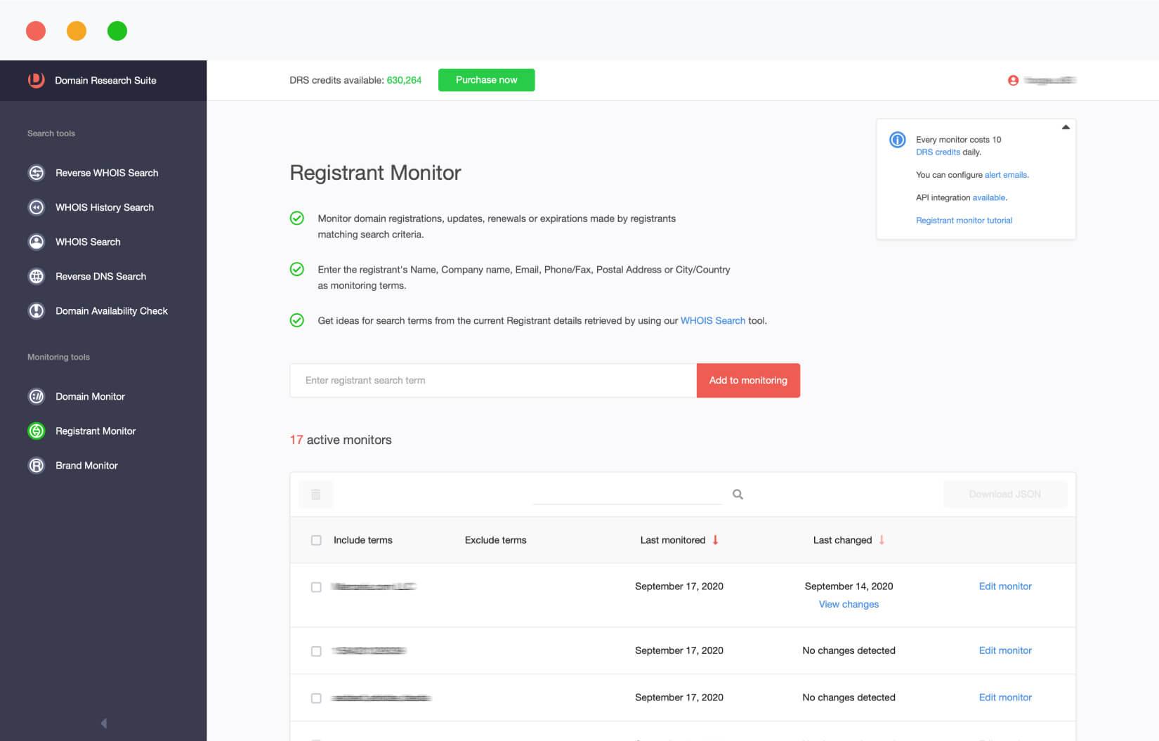 Registrant Monitor