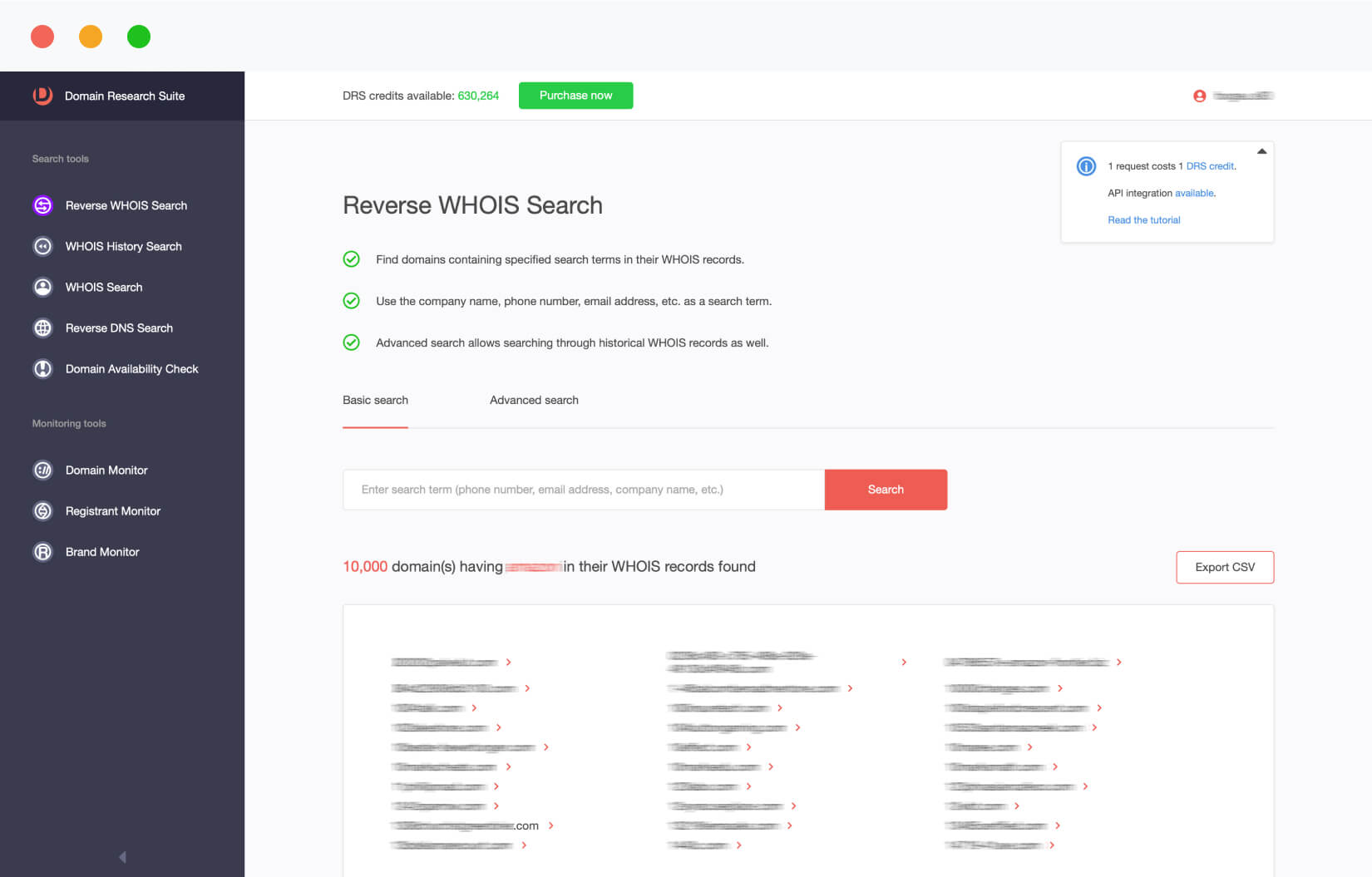 Reverse WHOIS Search